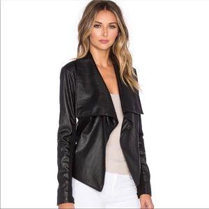 Jack vegan leather drape jacket size XS